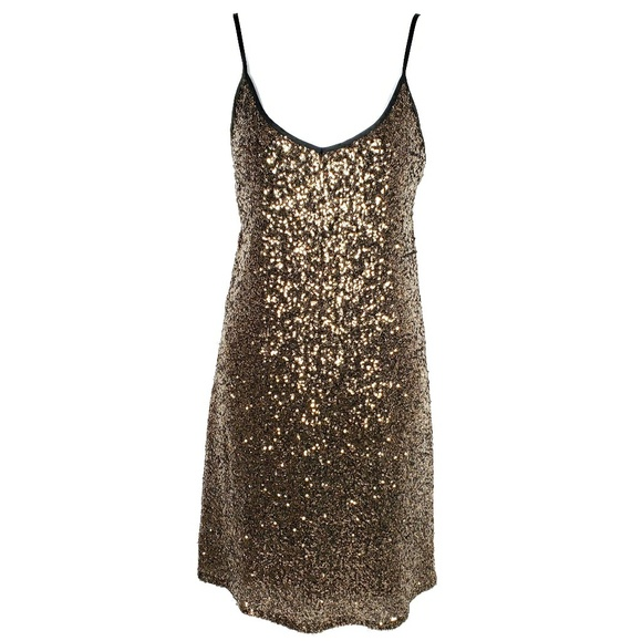 Gianni Bini Dresses & Skirts - GIANNI BINI | Metallic Sequin Slip Dress Large